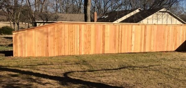 custom 6u0027 cedar wood privacy with cap and trim